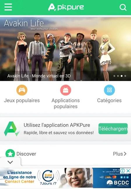 APKpure - Alternatives à Google Play Store