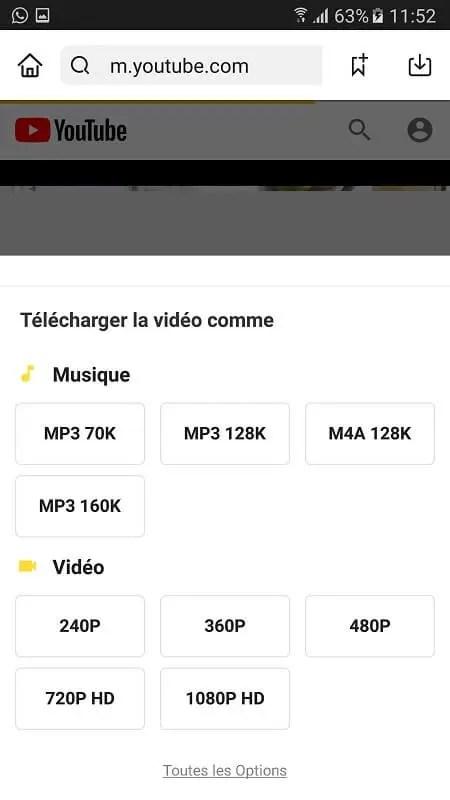 Comment télécharger une vidéo YouTube avec SNAPTUBE APK ?