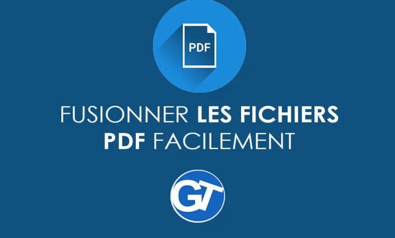 Comment combiner ou fusionner plusieurs fichiers PDF avec/ou sans logiciels dédiés ?