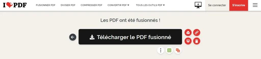 Télécharger les fichiers fusionés