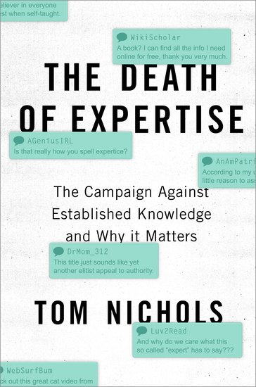 Tom Nichols - the death of expertise-cover