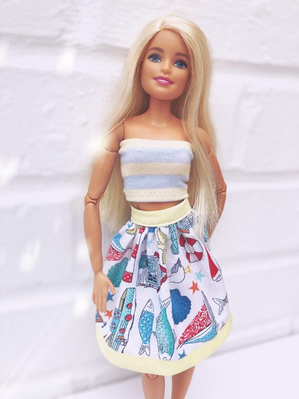 Barbie skirt and top