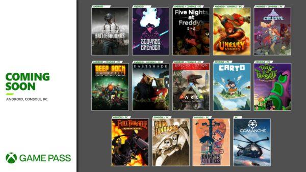 Xbox Game Pass Novembro