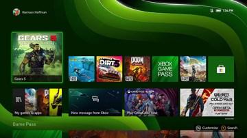 Experiência ao iniciar Xbox Series X/S