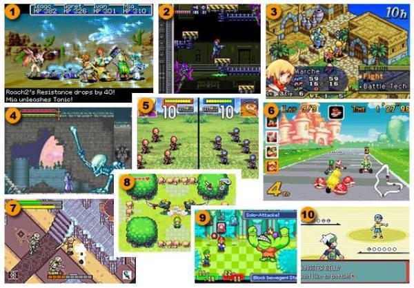 Game Boy Advance - Os Mais Vendidos