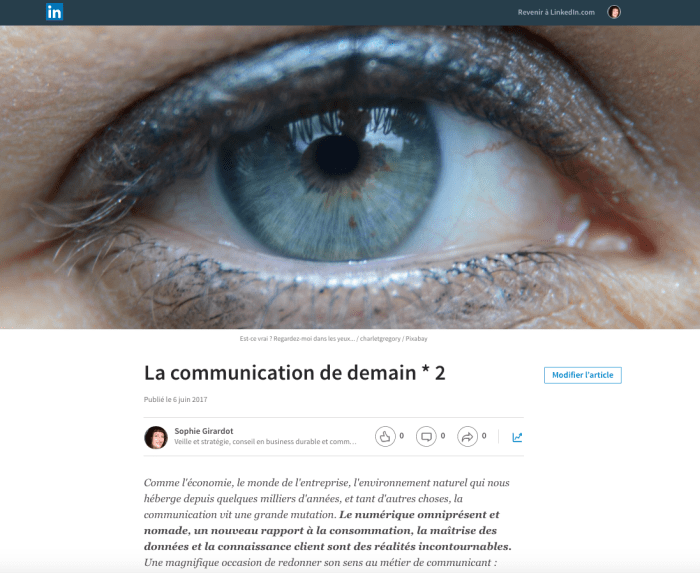 La communication de demain