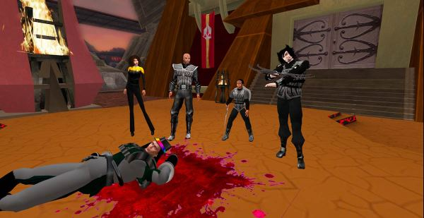 A dead Klingon? No, only wounded.