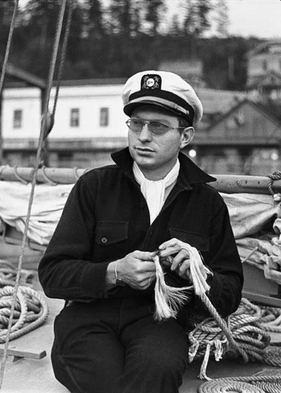 L. Ron Hubbard in Ketchikan, Alaska, 1940