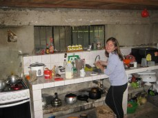 Andrea in the kitchen