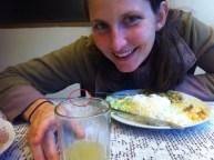 Andrea enjoying her lunch