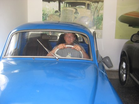 Escobar first drug running car at his mom's old house