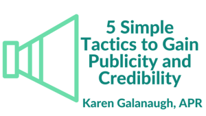 publicity and crediblity