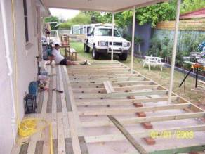 this deck is a small carpentry job