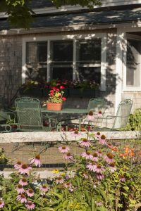 Clary Lake Bed And Breakfast, Jefferson, Maine, patio area.