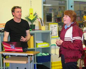 Picture: John Larkin (Author) with Student