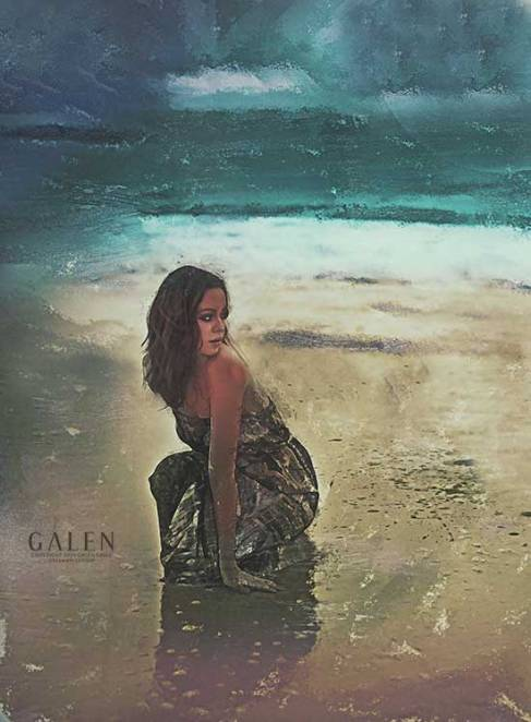 Westcoast - Woman on Beach Art Print by Galen Valle