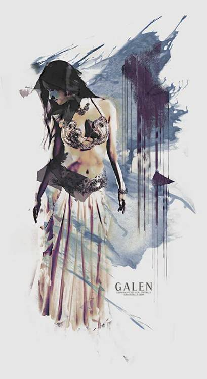 Sway - Bellydancer Abstract Art Print by Galen Valle
