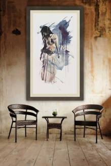 Sway - Abstract belly dancer wall art by Galen Valle