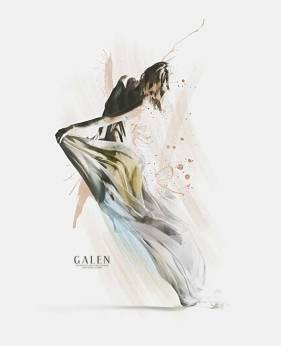 Drift - Contemporary Aerial Dance Art Print by Galen Valle