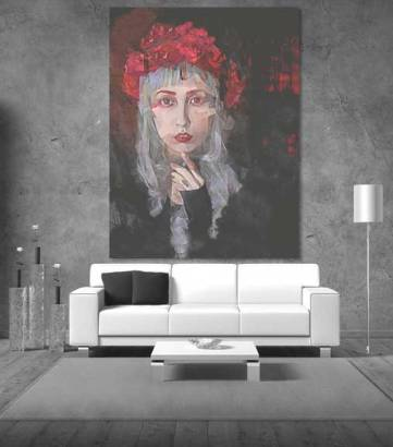 Petal - Gothic Portrait Wall Art by Galen Valle