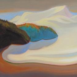 Norte 2017. Óleo sobre lienzo 38 x 55 cm