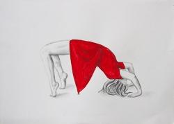 Serie Inercias_50x70_Lápiz y tinta sobre papel
