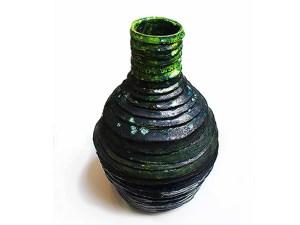 Sculptoric Clay Vase
