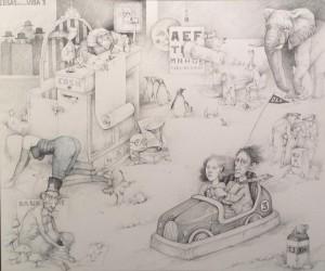 Manuel López Herrera - Cosas de la vida 3 - Grafito:T 100x120 cm