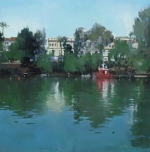 Al otro lado del río III (50x50)