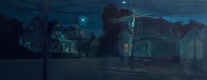 noches solitarias 100x250cm Boston Massachussets