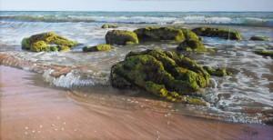 Rocas azafran playa