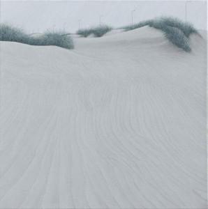 El viento que lastima 45x45cm oleo-lienzo