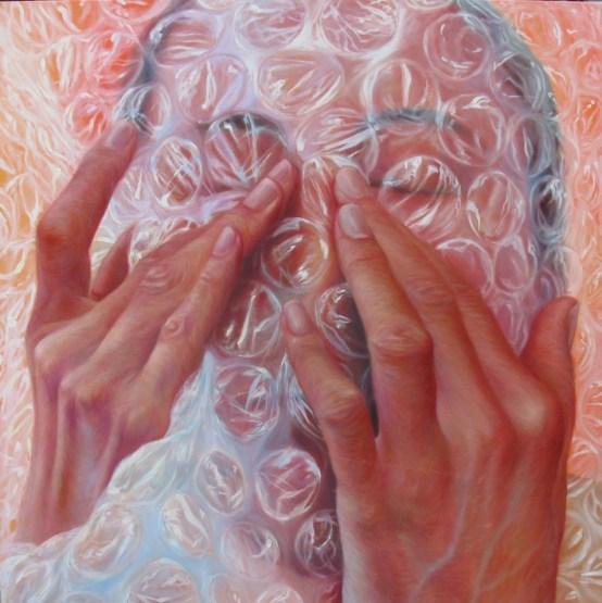 2.- Tatiana Ortiz Rubio, Nunc-stans, 2013, óleo sobre tela, 100 x 100 cm