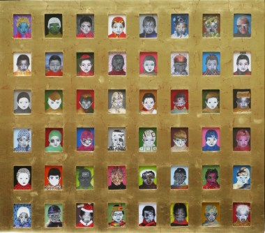 50.- Leonel Coronado, El vals de los locos, 2014, mixta sobre papel, 103 x 115 cm