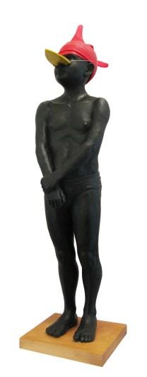 57.- Antonio López, El gran pollo, 2014, Resina, madera y latex, 90 x 24 x 22 cm