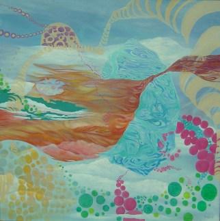 Mariana Pereyra, Mandala equilibrante, 2006, óleo sobre tela, 85 x 85 cm