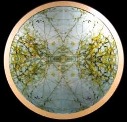 Mayte Espinosa, Rounded nature No. 3 , 2014, fotografía sobre espejo con marco de madera, 88 cm de diámetro