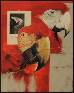 Miguel Carrillo, Desapariciones, 2014, mixta sobre tela, 100 x 80 cm