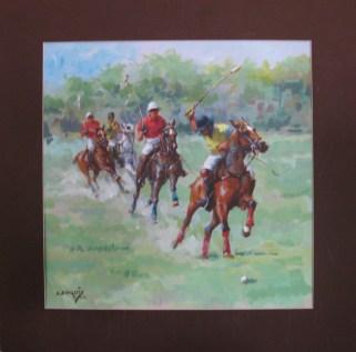 15.- Alfredo Enguix, Polo 4, 2013, Acrílico sobre papel, 40 x 40 cm