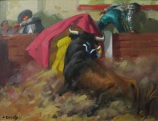 4.- Alfredo Enguix, El susto, Óleo sobre tabla, 27 x 35 cm