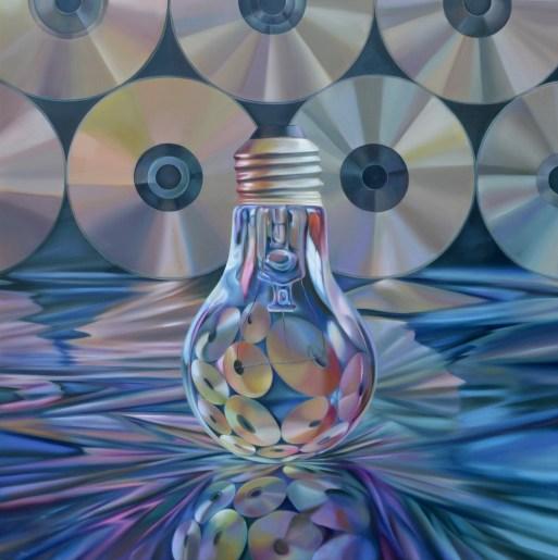Jorge Luna, El círculo de Pi, 2013, óleo sobre tela, 150 x 150 cm