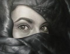 Marielle García, Misterio entre sombras, 2015, óleo sobre tela. 89 x 69 cm