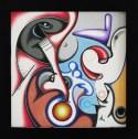 Isz, C-ing the light  Óleo y acrílico sobre tela, 30 x 30 cm