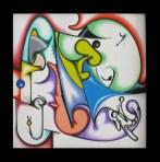 Isz, Fragance of a whispered touch Óleo y acrílico sobre tela, 30 x 30 cm