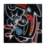 Isz, It´s the thought that counts Óleo y acrílico sobre tela, 30 x 30 cm