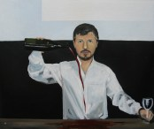 Nestor Quiñones, Autorretrato, 2016, óleo sobre tela, 50 x 60 cm