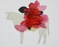Nestor Quiñones, Sin título (Vaca), 2016, óleo sobre tela, 40 x 50 cm