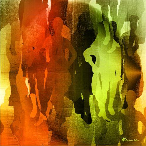 ",,Umbrele Strazilor"" 50x50 cm - Grafica Digitala"