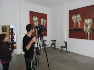 Fernsehaufnahmen_der_ERDWAECHTERAUSSTELLUNG_Werke_des_Visual_Artists_J.H.Block_in_der_Galerie_an_der_Ruhr_HALLE_Foto_by_Ivo_Franz