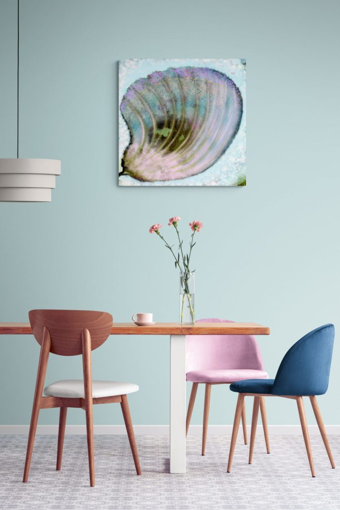 Third Image of 'Butterfly Petal'. - Limited edition of 300. Floral wall art printed on Dibond, signed and numbered.